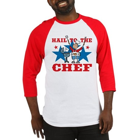 Hail To The BBQ Chef Baseball Jersey