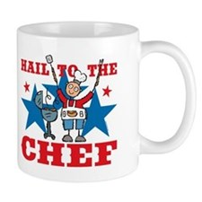 Hail To The BBQ Chef Mug