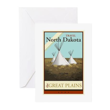 Travel North Dakota Greeting Cards (Pk of 20)