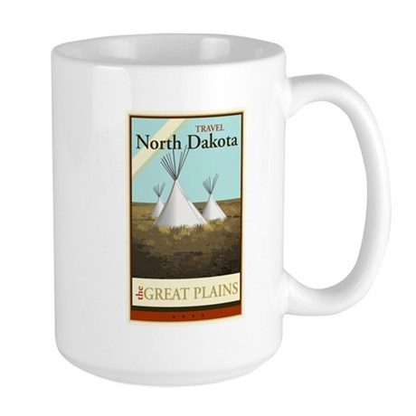 Travel North Dakota Large Mug