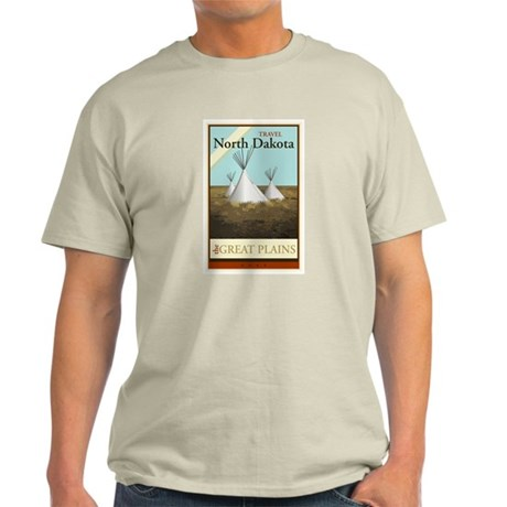 Travel North Dakota Light T-Shirt