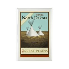 Travel North Dakota Rectangle Magnet