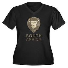 Vintage South Africa Women's Plus Size V-Neck Dark