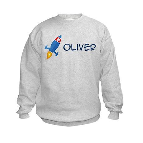 Oliver Rocket Ship Kids Sweatshirt
