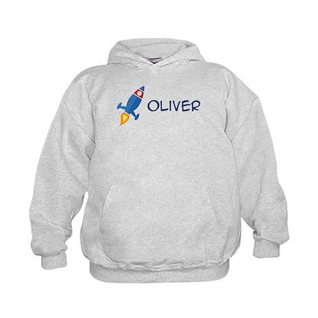 Oliver Rocket Ship Kids Hoodie
