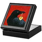 Valentine Crow Tile Trinket Box