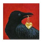 Valentine Crow Art Tile