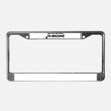 Make Your Own Dinner License Plate Frame