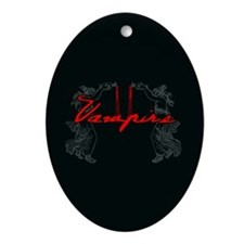 Vampire Blood Dance Ornament (Oval)