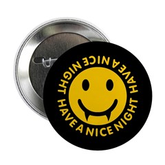 "Nice Night Vampire 2.25"" Button (10 pack)"