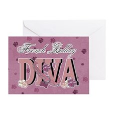 French Bulldog DIVA Greeting Card