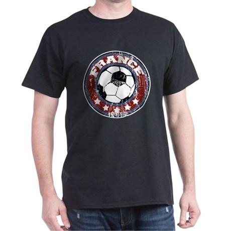 France Soccer (distressed) Dark T-Shirt