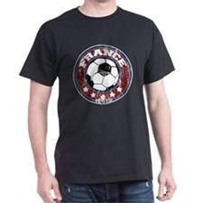 France Soccer (distressed) T-Shirt