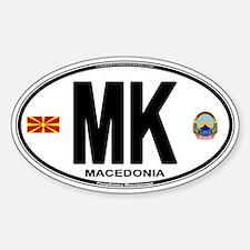 Macedonian Euro Oval Decal