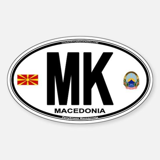 Macedonian Euro Oval Sticker (Oval)