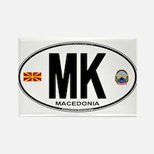Macedonian Euro Oval Rectangle Magnet