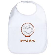 Basketball Jump Hoops White Bib