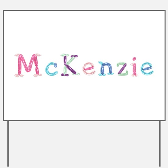 McKenzie Princess Balloons Yard Sign