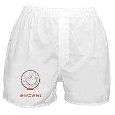 Basketball Jump Hoops White Boxer Shorts