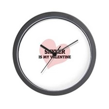 Skyler Is My Valentine Wall Clock
