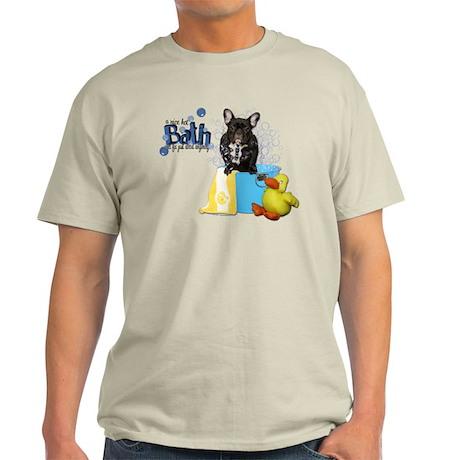 Hot Bath French Bulldog Light T-Shirt