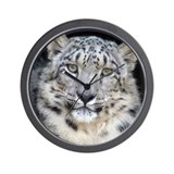 Snow leopard Wall Clocks