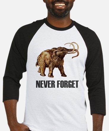 Never Forget Woolly Mammoth Baseball Jersey