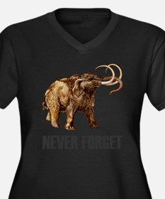 Never Forget Woolly Mammoth Women's Plus Size V-Ne