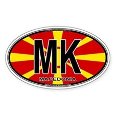 Macedonian Oval Colors Decal