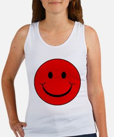 Red Smiley Face Women's Tank Top