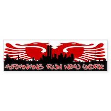 Albanians Run New York Bumper Sticker