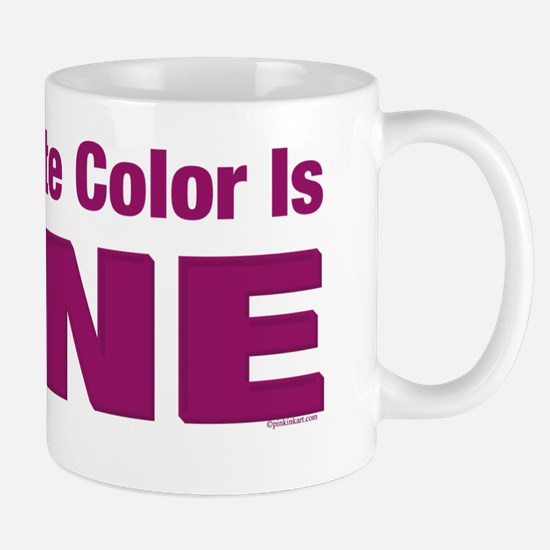 Favorite Color is Wine Mug