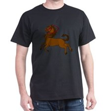 Fanciful prancing carousel horse Black T-Shirt