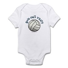 White Volleyball Team Infant Bodysuit