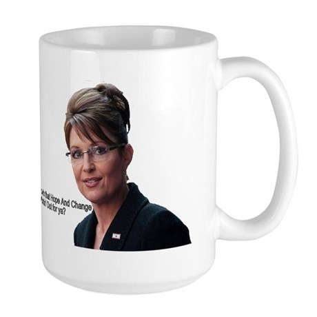 Sarah Palin Hope and Change Large Mug