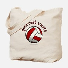 Volleyball Team - Red Tote Bag