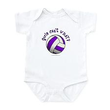 Volleyball Team - Purple Infant Bodysuit