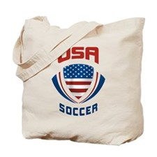 Soccer Crest USA Tote Bag