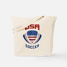Soccer Crest USA Tote Bag