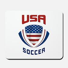 Soccer Crest USA Mousepad