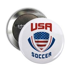 "Soccer Crest USA 2.25"" Button"