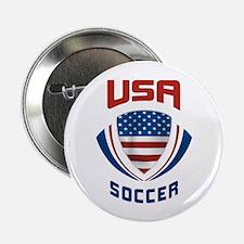 """Soccer Crest USA 2.25"""" Button"""