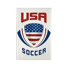 Soccer Crest USA Rectangle Magnet