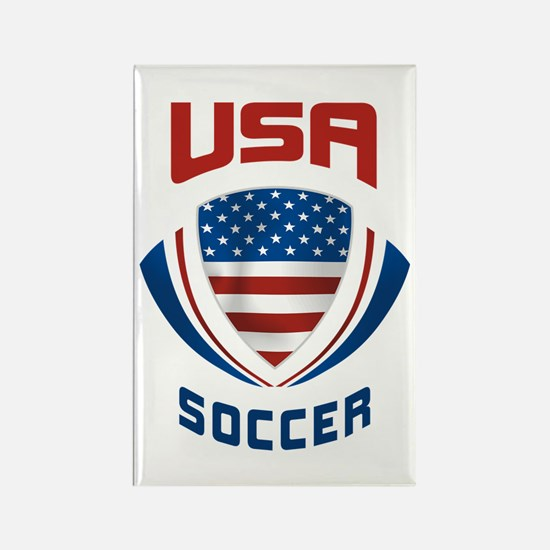 Soccer Crest USA Rectangle Magnet