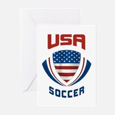 Soccer Crest USA Greeting Cards (Pk of 20)