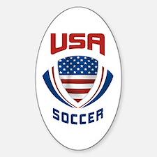Soccer Crest USA Decal