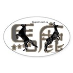 Magnificently Baka Sticker (Oval 50 pk)