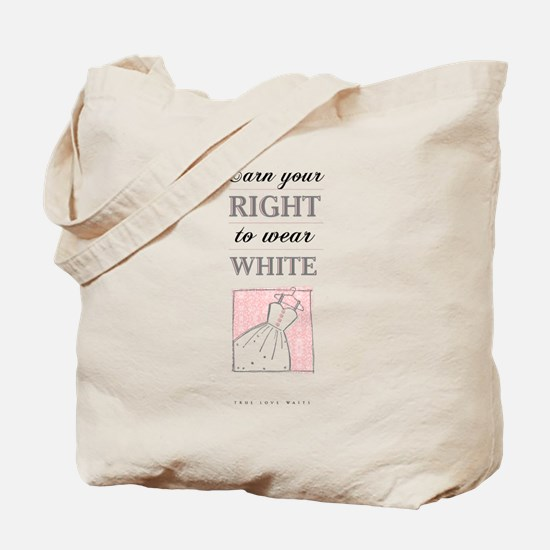 Right to Wear White Tote Bag