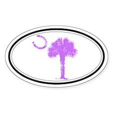 Purple Horseshoe Palmetto Decal