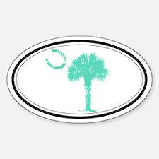 green Horseshoe Palmetto Decal